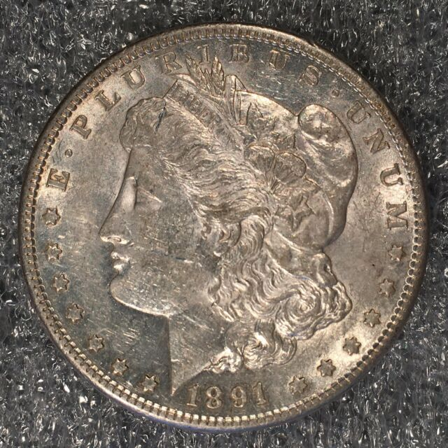 1891-S Morgan Silver Dollar - Nearly Uncirculated - High Quality Scans #H582