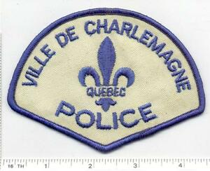 Ville de Charlemagne Police (Canada) Shoulder Patch from the Early 1980's