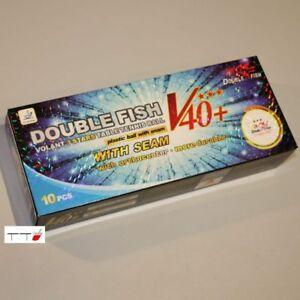 20 x Double Fish 3-Star V40 acrylonitrile butadiène styrène Boules Blanc ITTF approuvé pour la concurrence