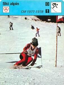 FICHE-CARD-CM-1977-1978-Hanni-Wenzel-Liechtenstein-Alpine-skiing-SKI-ALPIN-70s