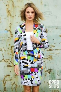 Miss-Testival-Test-Image-Women-039-s-Costume-Colourful-Slimline-2-teilig-Premium-Eu