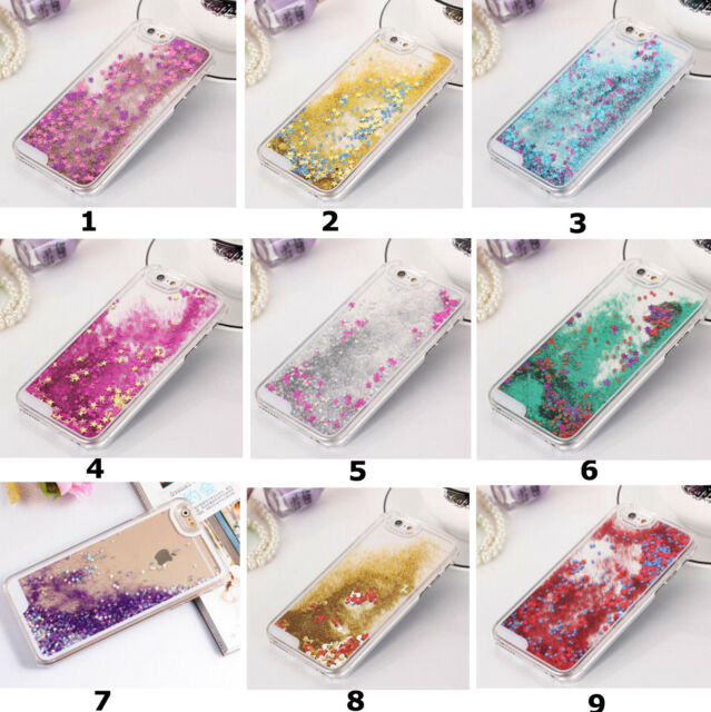 Clear Dynamic Liquid Glitter Colored Paillette Quicksand Case Cover For Phones