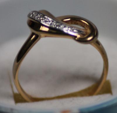 Fine Jewelry Temperate Brillantring 333er Gold Bicolor Mit Fünf Brillanten 0,05 Karat Clearance Price