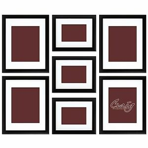 image is loading craig frames 7 piece black gallery wall frame - White Picture Frame Set