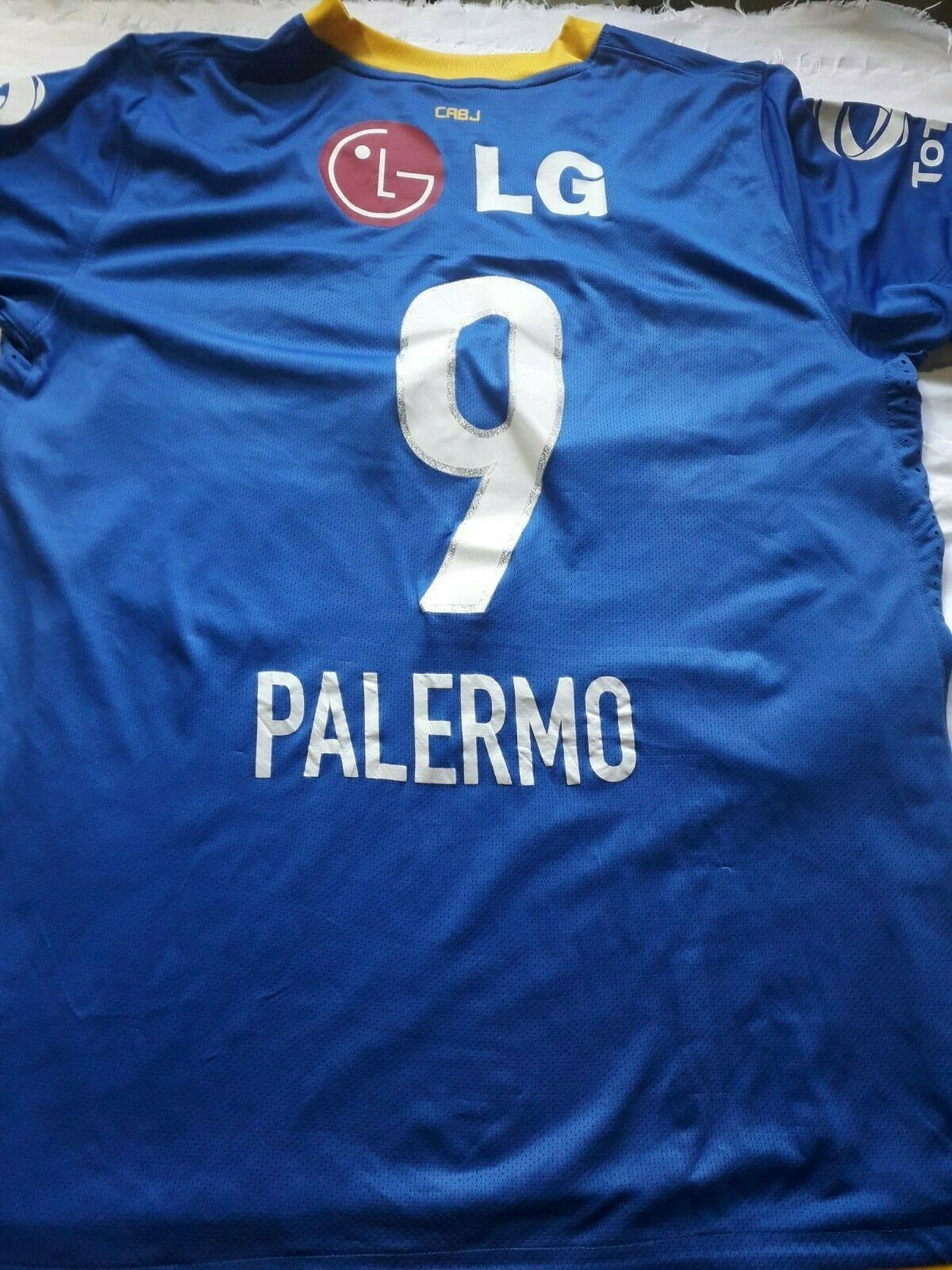 Old   jersey Boca juniors  argentoina   with 9 Palermo Diuominiione XL