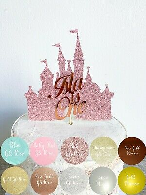Marvelous Princess Castle Personalised Birthday Cake Topper Disney Castle Funny Birthday Cards Online Alyptdamsfinfo