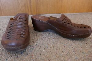 Nuture-Womens-Brown-Leather-Mule-Slide-Loafer-Shoes-7-5M