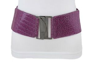 Urbain Femme Large Simili Cuir Violet Mode Corset Ceinture Hip ... c786a06d329