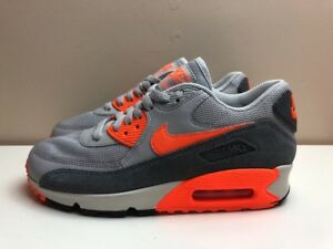 3f92536af5c5 Nike Air Max 90 Womens Shoes Grey UK 4.5 EUR 38 Grey Orange 616730 ...