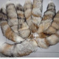 10pcs -Genuine Nature Real Grass Fox Tail Keychain Fur Tassel Bag Tag Ring Charm