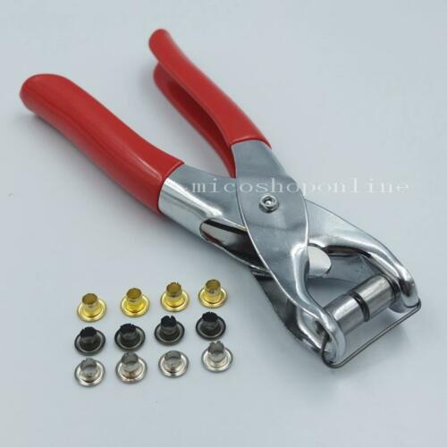 """300 600 Grommets 4mm 3//16/"""" with Easy Grommet Eyelet Setting Pliers Metal Choice"""