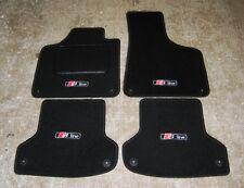 """Black Car Stuoie adatta a Audi A3 8P LHD 03-12 + """"S-Line"""" Logo x 4 + Fissaggi"""