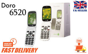 Doro-Telefono-EASY-6520-Flip-Fold-3G-Ampio-Display-Grande-Tasti-Telefono-Cellulare-Sbloccato