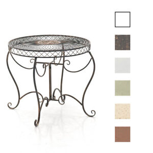 Détails sur Table de Jardin SHEELA Ronde Design Antique Romantique Table  Terrasse ou Balcon