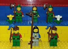 6 Lego Classic Castle Robin Hood Figuren. Minifig. Ritter, Forestmen Waldmann 1