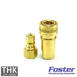 Foster-H2B-K2B-Carpet-Cleaning-1-4-034-Brass-Quick-Disconnect-Hose-Wand-extractor