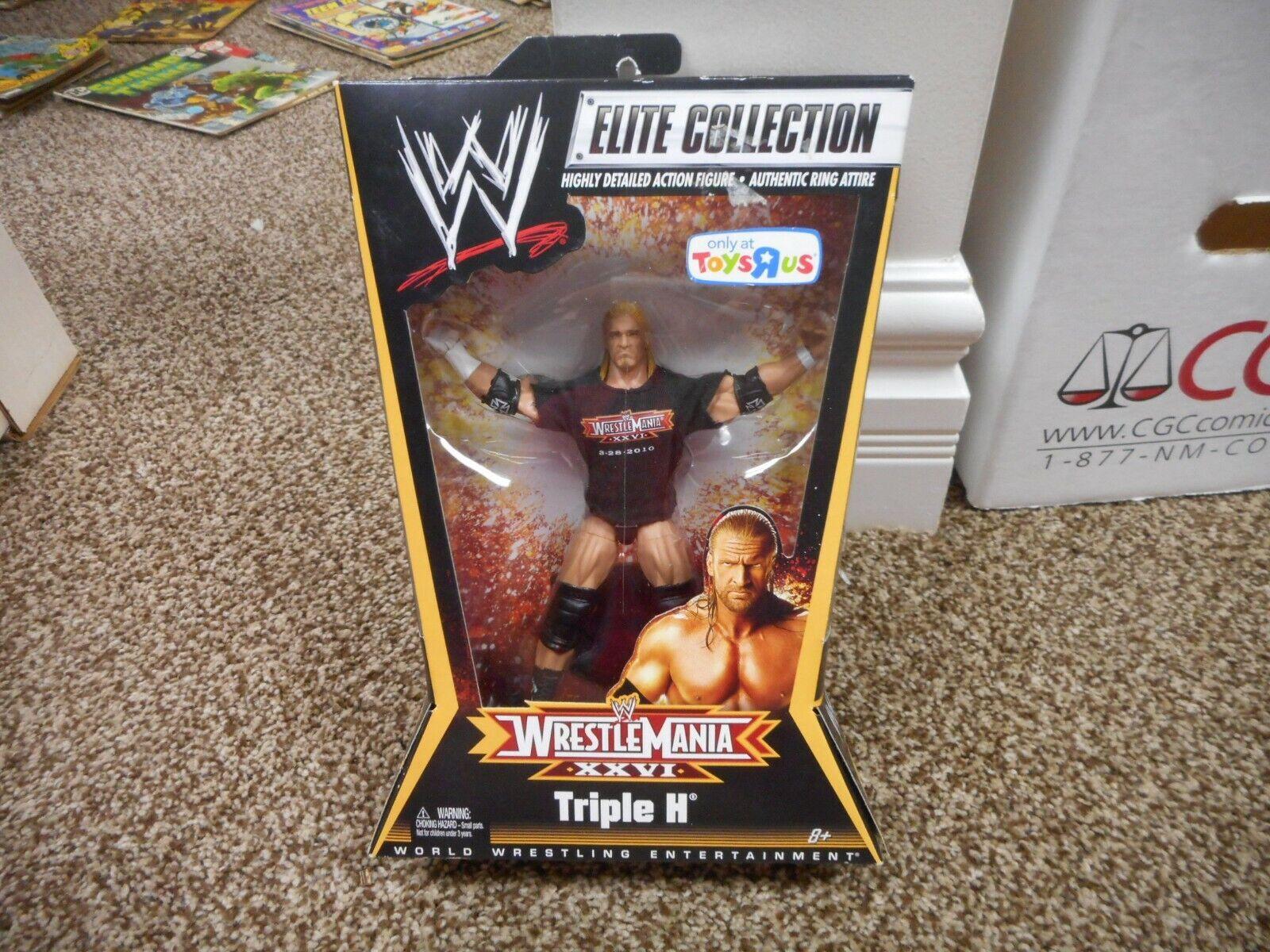 Triple H Wwe Elite MIB Sigillato Scatola Moc Wrestlemania Xxvi Set 26 Juguetes R US