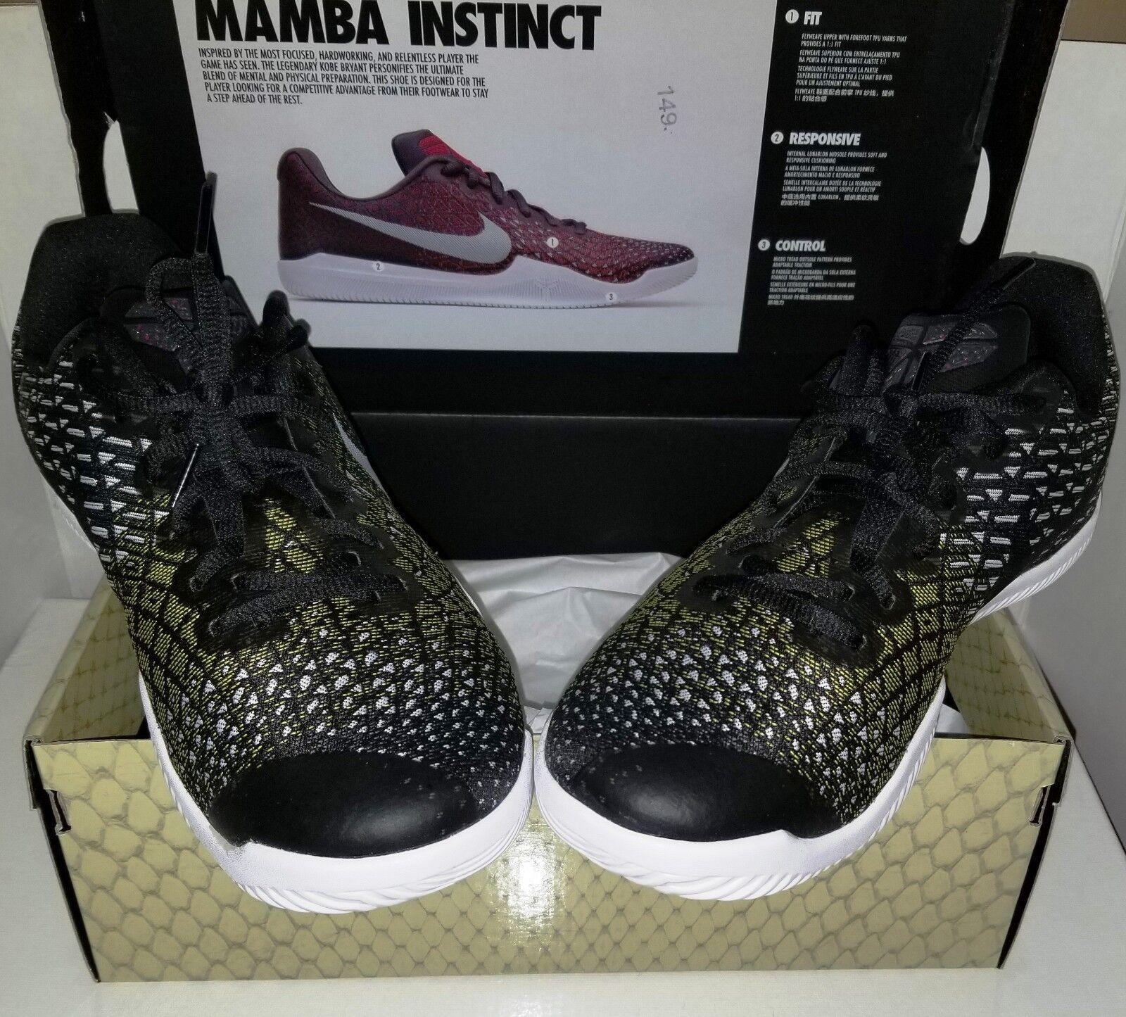 Nike Kobe instinto Hombre de zapatillas verde negro blanco zapatos de Hombre baloncesto de tamaño 11 nueva gran descuento c07a84