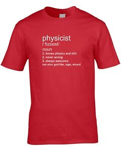 Physics Ladies T-Shirt Funny Hobby Statement Gift Teacher Science Physicist Book