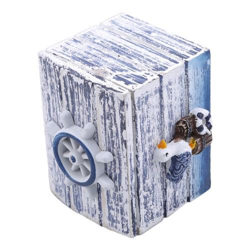 Nice Lighthouse Wooden Storage Lock Box Craft Display Jewelry Household Decor QP