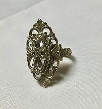 Vintage Sterling Silver 800  Ring Size 6.5 no Stones