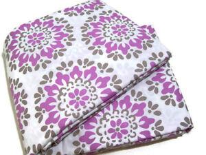 Pottery-Barn-Teen-Medallion-Purple-Brown-Organic-Full-Queen-Duvet-Cover-New