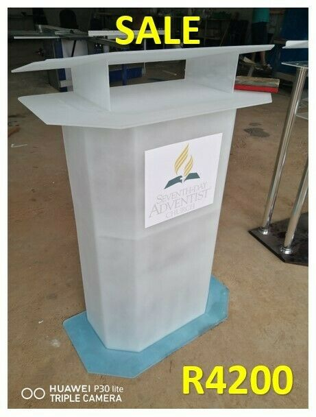 Half Dec Frosted White No Strips Pulpits And Podiums