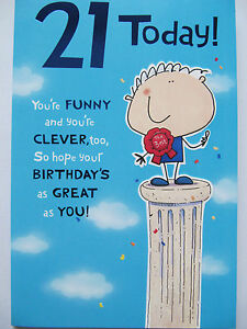 Details About FANTASTIC ON TOP OF THE WORLD BEST 21 TODAY 21ST BIRTHDAY GREETING CARD