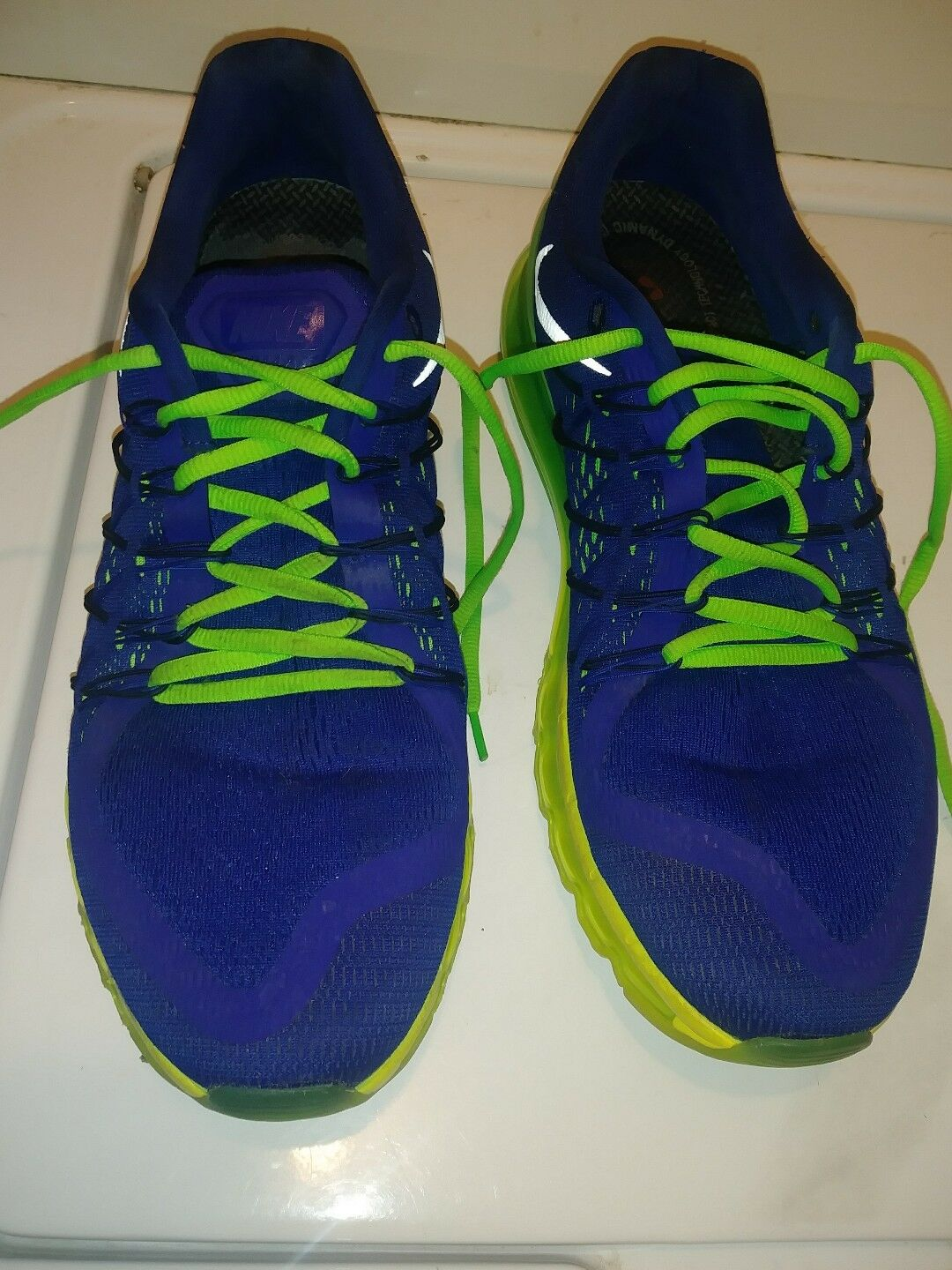 NIKE AIR MAX Men's blueeishPurple Green Athletic Sneakers shoes Size 12. Excellent