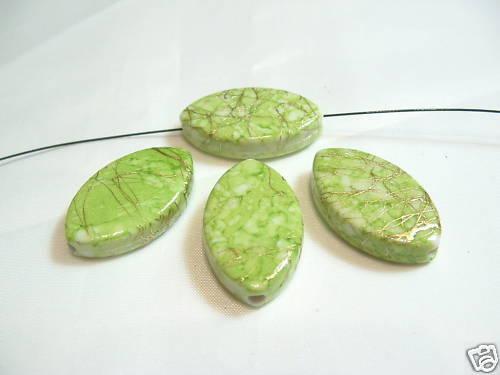 10 X Green//gold Rombo Abalorios acrílicos Bna153a