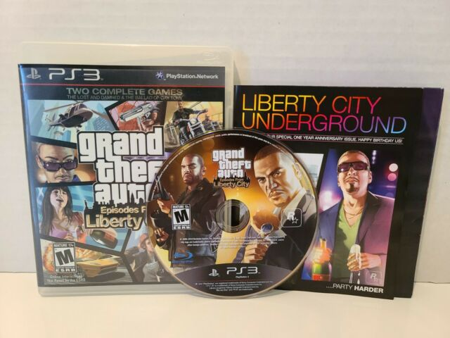 Grand Theft Auto: Episodes From Liberty City (Sony PlayStation 3, 2010) CIB