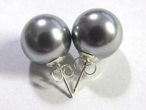 Grey Shell Pearl Earrings