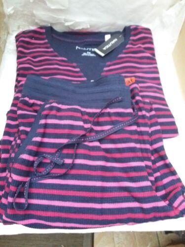 Nautica Donna Sleepwear Set 2 PEZZI-Supermorbido Pigiama A Righe