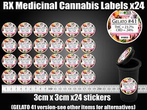 Details about GELATO 41 CALI Labels Stickers Dram pop top RX Medical TIN  CAN JAR POT