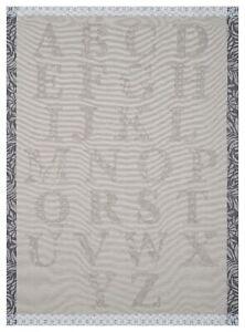 """Made in France. Bengal Woven cotton tea towel Jacquard Francais /""""Volière/"""""""