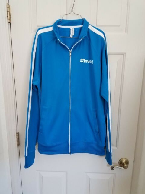 Amazon Web Services AWS re:Invent Blue Zip up jacket