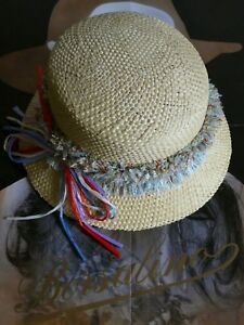 Caricamento dell immagine in corso BORSALINO-cappello -donna-Borsalinette-in-paglia-Italy-M- 7d1484634d47