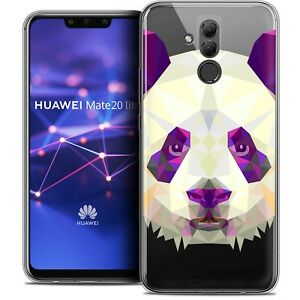 "Coque Gel Pour Huawei Mate 20 Lite (6.3"") Polygon Animal Souple Fin Panda"