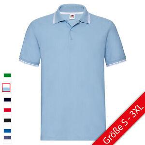Heiß-Verkauf am neuesten autorisierte Website uk billig verkaufen Details zu Fruit of the Loom Premium Tipped Polo-Shirt Herren Poloshirt mit  Streifen NEU