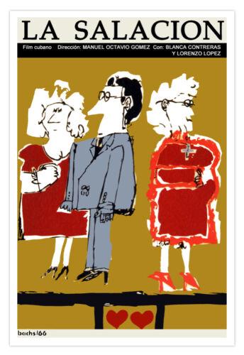 "Cuban decor Graphic Design movie Poster/""La SALACION/""Couple.Mother in Law.art"