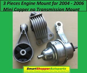 3-Pieces-of-Engine-Mount-for-2004-2006-Mini-Copper-no-Transmission-Mount