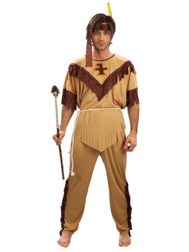 Adulti Da Uomo Red Indian Costume WILD WEST Nativo Americano Costume uomo coraggioso