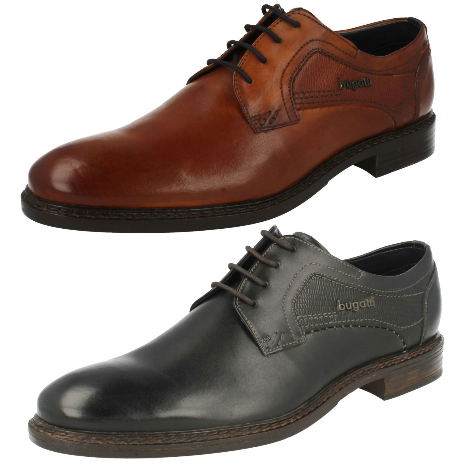 Herren Bugatti Lace Up Formal Formal Up Schuhes Bene bcb526