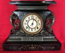 RARE Ansonia Rosalind Antique/Figural/Mantel 1880's Clock 8 Day Running
