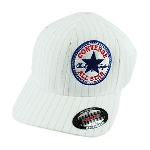 Converse-All-Star-Men-039-s-Flex-Fit-Black-White-Core-Cap-Hat-Fitted-Chuck-Taylor