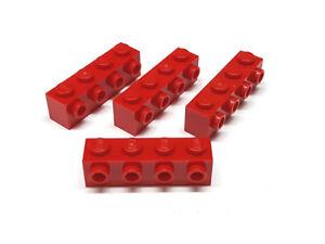 4157223 Lego Stein Modifiziert 1x4 mit 4 Noppen Rot 4 Stück