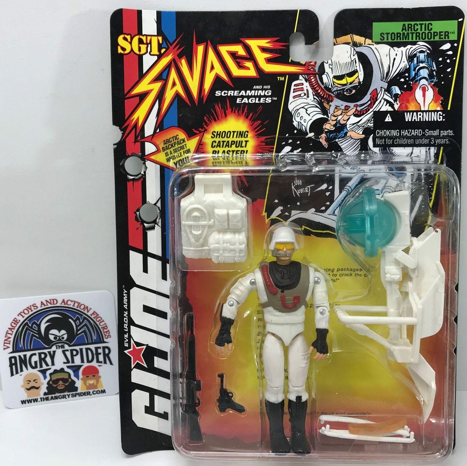 TAS040380 - 1994 Hasbro G.I. Joe SGT. Savage Action Figure - Arctic Stormtrooper