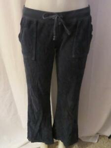 Image is loading WOMENS-JUICY-COUTURE-NAVY-ELASTIC-WAIST-DRAWSTRING-VELOUR- f9198644c