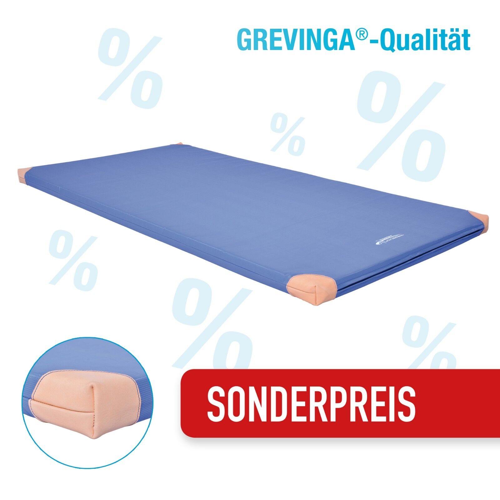 (KIMA) Grevinga®PLAY Spiel- und Turnmatte mit Lederecken-RG22 ca.150x100x6cm