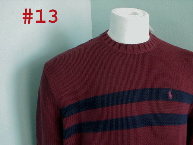 NEW  Polo Ralph Lauren colorful Striped Sweater   L  Maroon with Navy Stripes